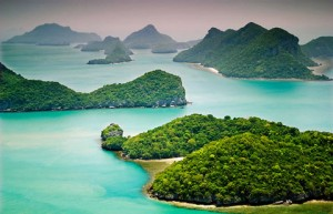 Islands in the Gulf of Thailand
